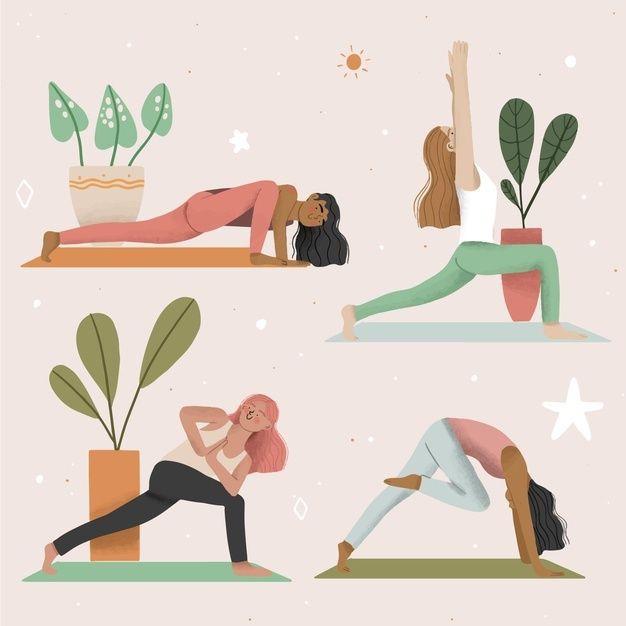 Yoga hareketleri örnek görseli